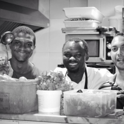All smiles from the kitchen