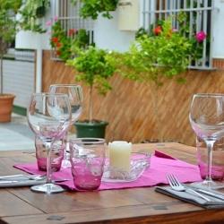 Outside table at The Little Geranium Restaurant