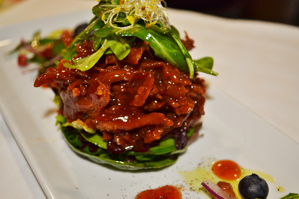 Famous crispy duck salad, endorsed by Princess Diana in the 90´s