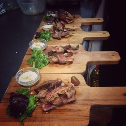 Lunch Tapas: Fillet of Galician beef cooked rare with Bearnaise sauce