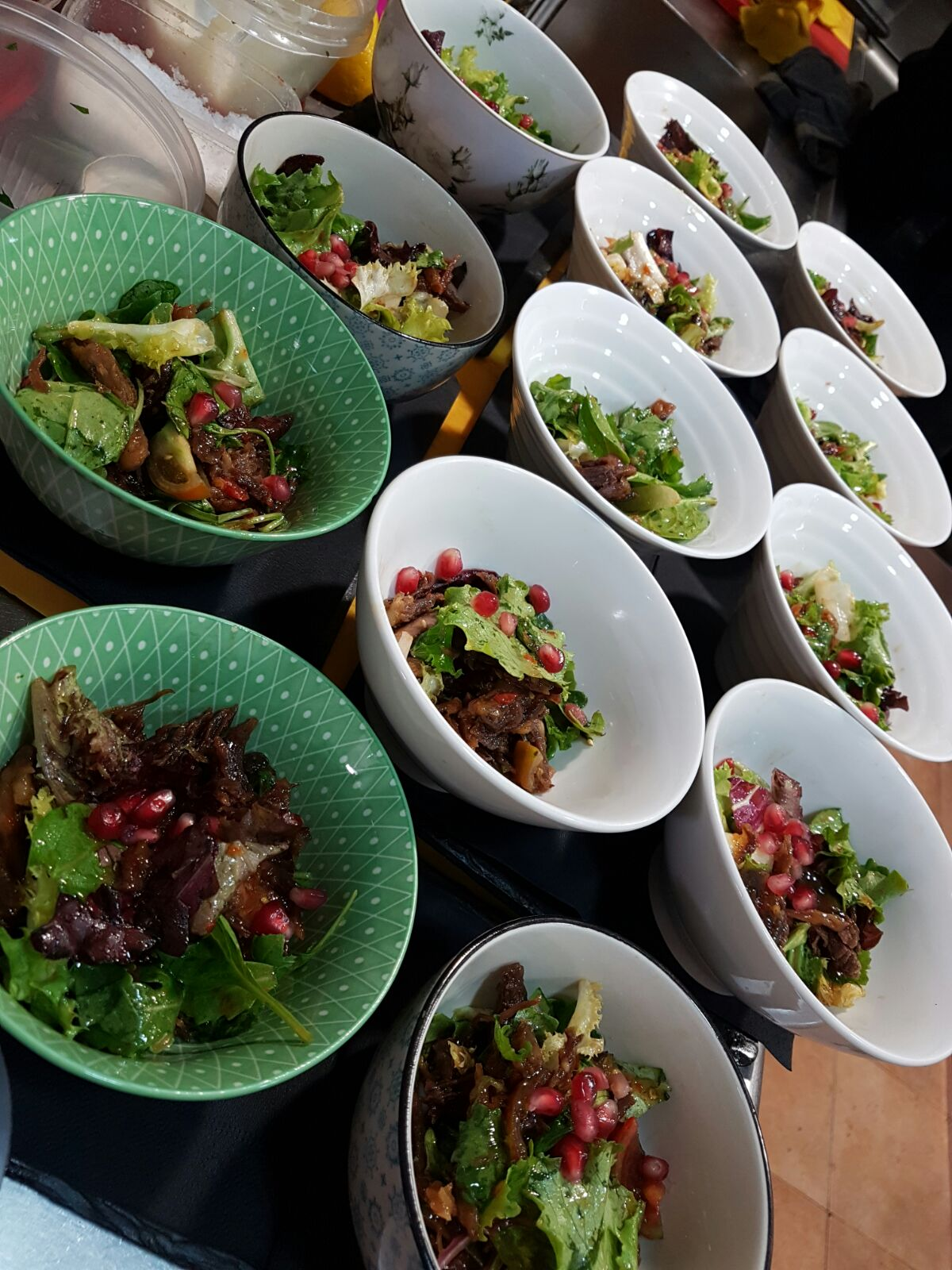 Lunch Crispy Duck Salad Crispy Duck salad with oriental dressing & pomegranate