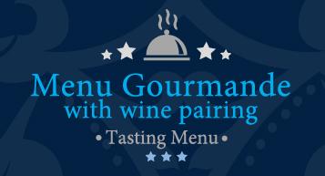 Gorumande €110 tasting menu with wine pairing